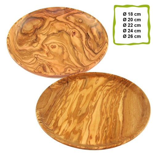 Plates of Olive Wood, various sizes | D.O.M.