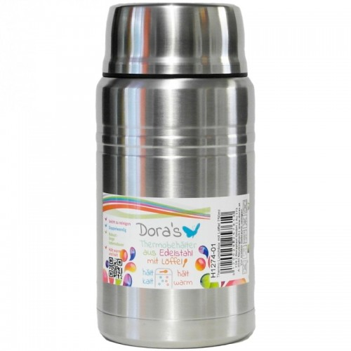 Dora's Thermos Stainless Steel Food Jar with Folding Spoon