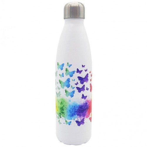 Stainless Steel Insulated Water Bottle Butterfly-Imprint | Dora's