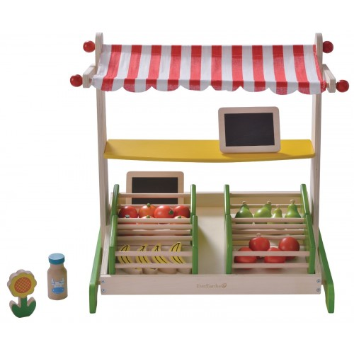 Organic Fruit Stand Table Top wooden toy   EverEarth