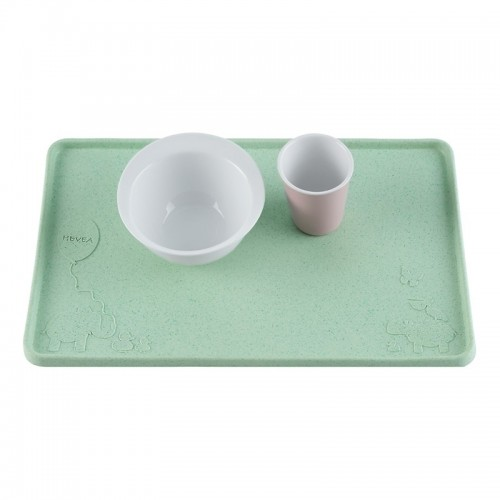 Hevea Placemat Upcycled Natural Rubber, Mint