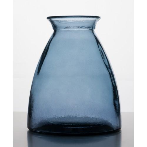 Vintage vase blue waste glass | Vidrios Reciclados San Miguel