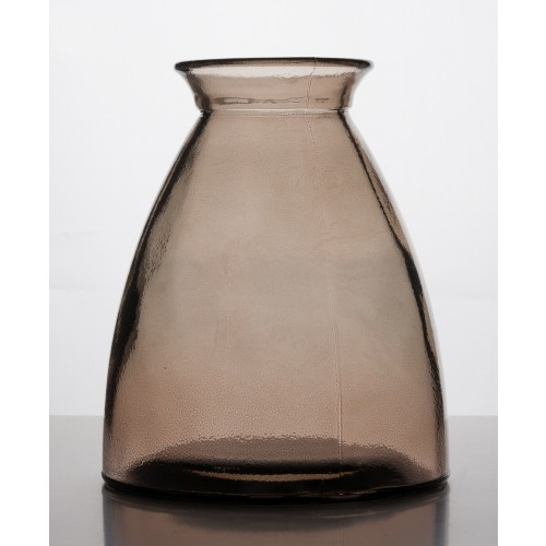Brown vase of waste glass | Vidrios Reciclados San Miguel