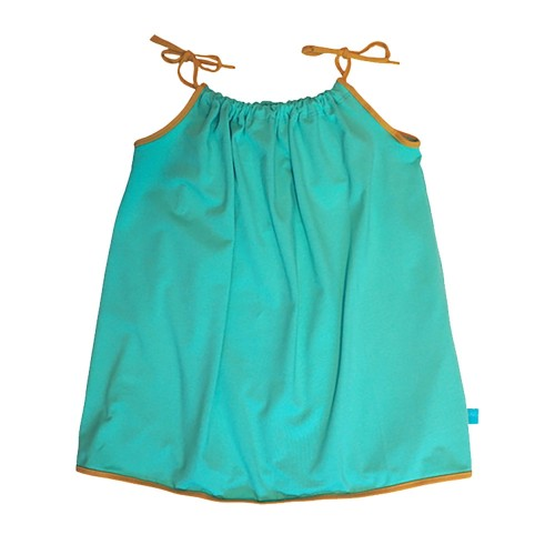 Strappy Top plain with contrasting bordering Mint Green - Eco Cotton | bingabonga