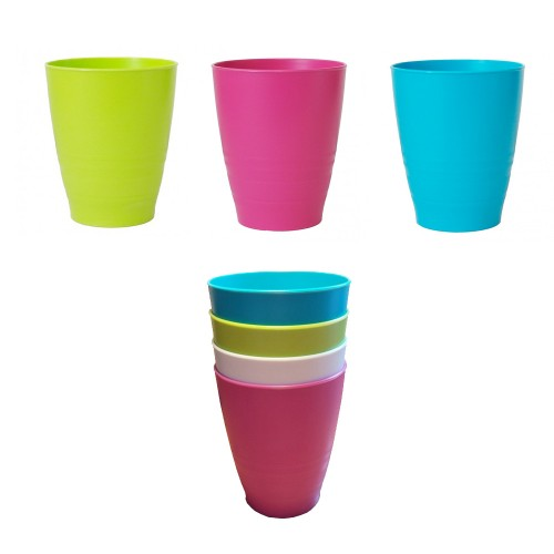 Colourful Drinking Cup made of bioplastics, 250ml | Biodora