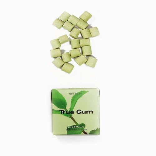 Plastic-free Chewing Gum True Gum Mint & Matcha