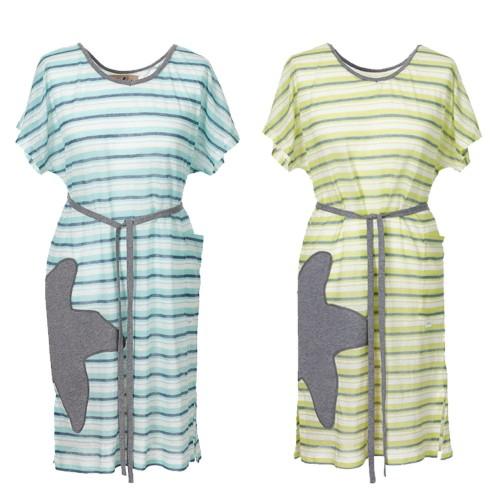 Striped Tunic & Organic Cotton Beach Dress | early fish