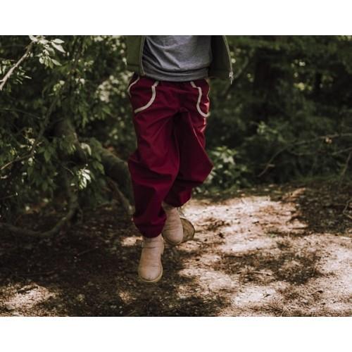 Eta-Proof Organic Cotton Kids Outdoor Trousers, berry | Ulalü