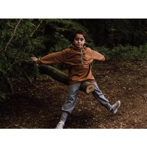Kids pull-on Outdoor Jacket camel, EtaProof Organic Cotton | Ulalue