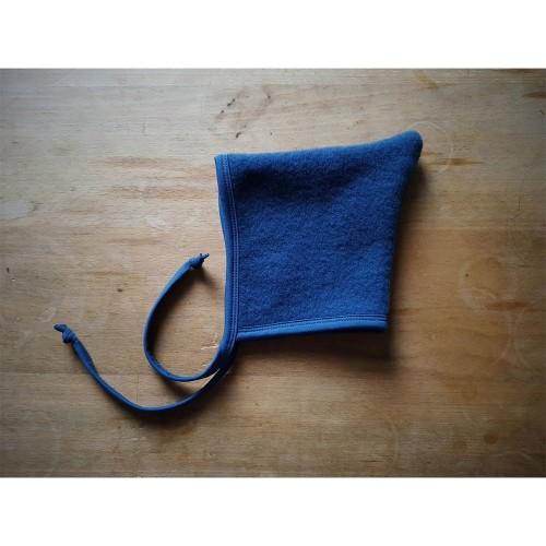 Night Blue Baby Pointed Hat Organic Wool Fleece » Ulalue