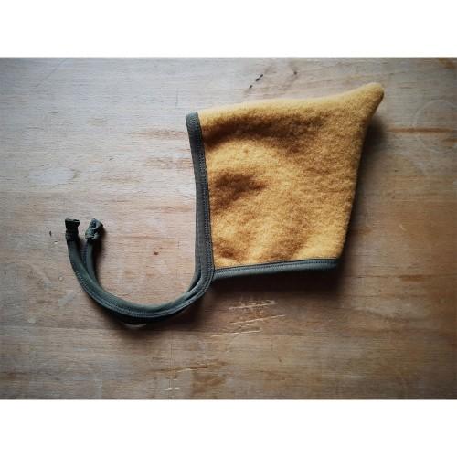 Curcuma-Yellow Baby Pointed Hat Organic Wool Fleece » Ulalue