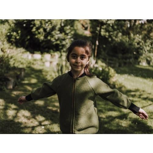 Kids Blouson Jacket - Organic Boiled Wool » Ulalue