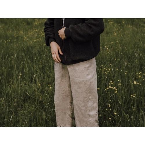 Casual Cut Hemp Trousers Nature » Ulalue