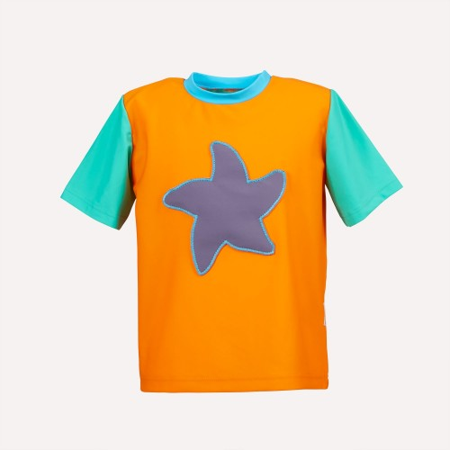 Eco UV protection 50+ T-Shirt Orangina with Starfish