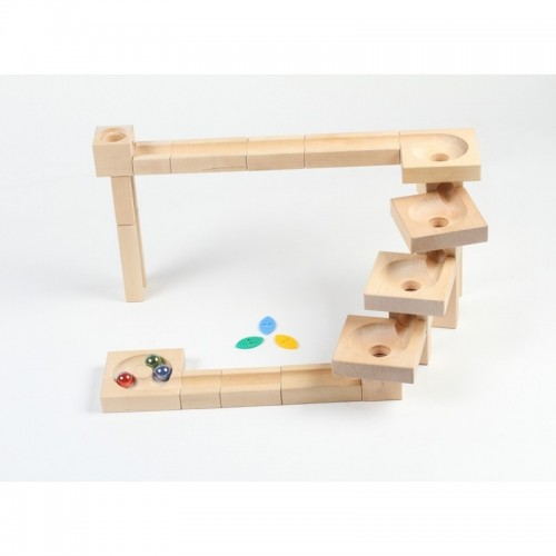 Varis Toys wooden Marble Run Fix&Lock Twister Edition