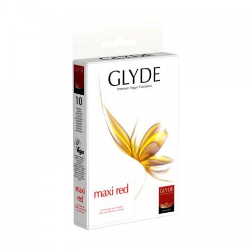 Glyde Maxi Red Vegan Condoms of natural rubber latex