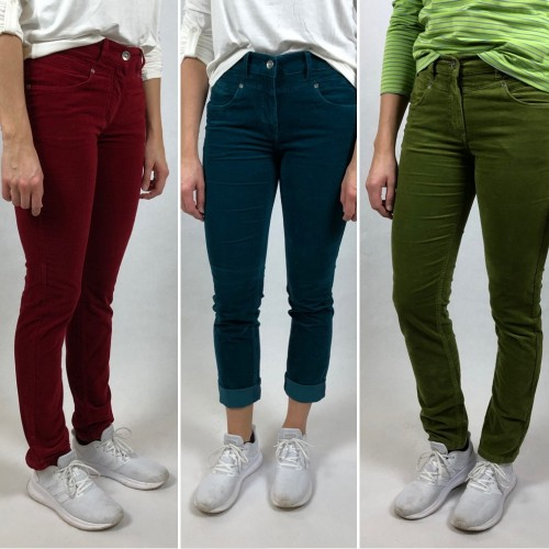 Five Pocket Organic Velveteen Trousers, various colours | bloomers