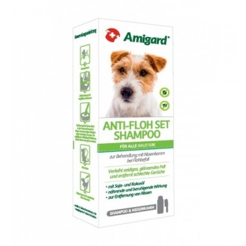 Amigard Natural ANTI-FLEA SET for Dogs
