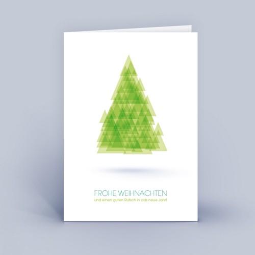 Eco Christmas Card Tree made of Triangles | eco-cards