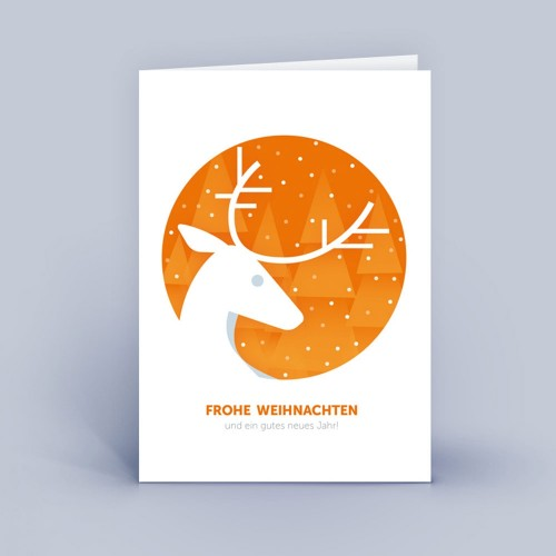 Eco Christmas Card with Stag DIN A6 | eco-cards shop