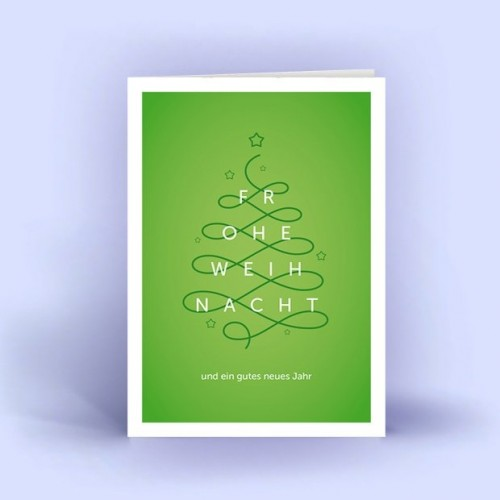 Christmas Tree curved - Eco Christmas Card | eco-cards shop