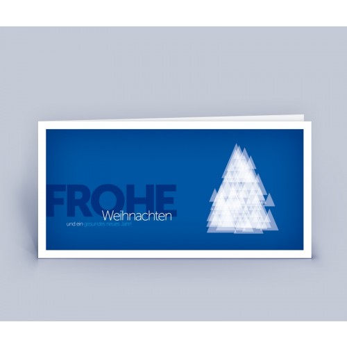 Eco Christmas Card Christmas Tree Modern | eco-cards