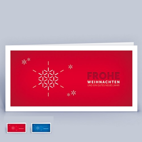 Snowflake Christmas Card on recycled paper | eco-cards