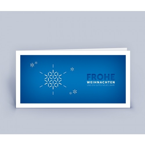 Snowflake blue Christmas Card on recycled paper | eco-cards