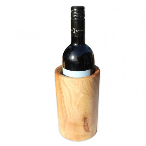 Natural Wine Cooler BARREL made of olive wood | D.O.M.