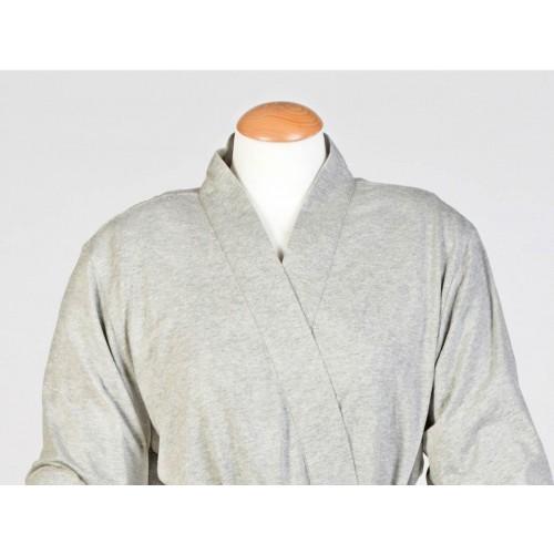 Bademantel Jersey White Grey