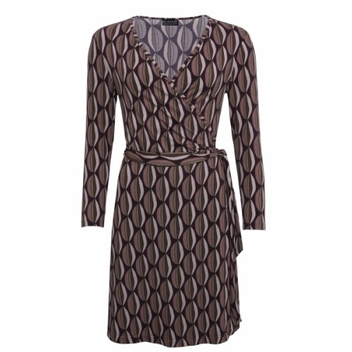 Vintage Wrap Dress made of Modal in retro pattern | billbillundbill