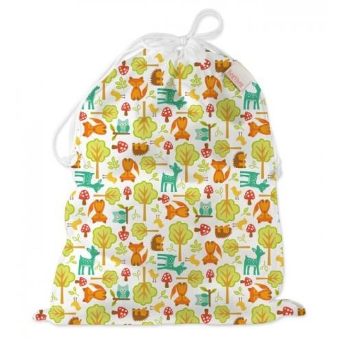 Wet Bag, Nappy Bag with Drawstring – Woodland | ImseVimse