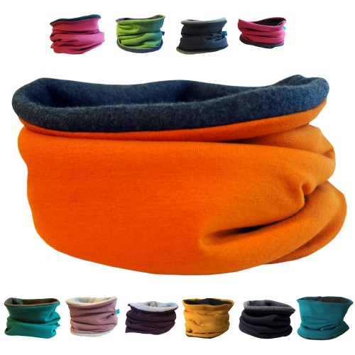 Winter Loop Scarf Plain Eco Fleece & Eco Cotton | bingabonga
