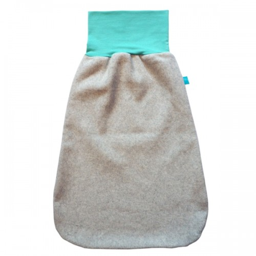 Winter Swaddle Wrap Organic Cotton Fleece Light-Grey/Mint-Green | bingabonga