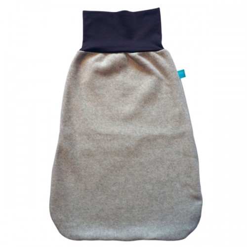 Winter Swaddle Wrap Organic Cotton Fleece Light-Grey/Cocoa | bingabonga