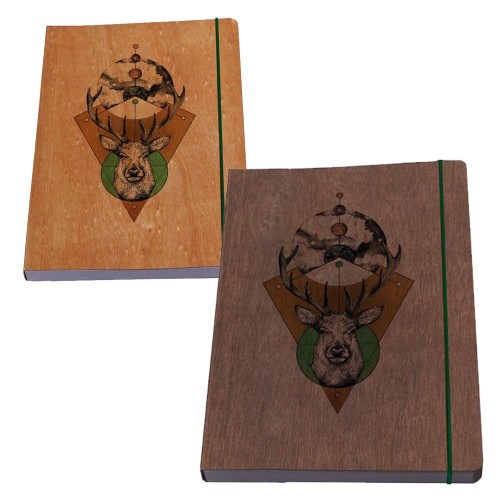 Eco Notebook STAG wooden book cover & FSC paper | Waldkind
