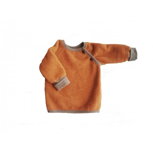 Organic Wool Fleece Raglan Jumper Amber for kids | Ulalue