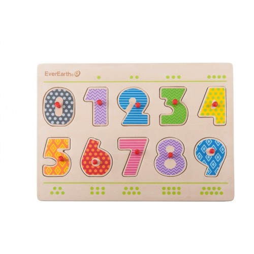 """EverEarth """"Number Peg Puzzle"""" - Eco toy of FSC® wood"""