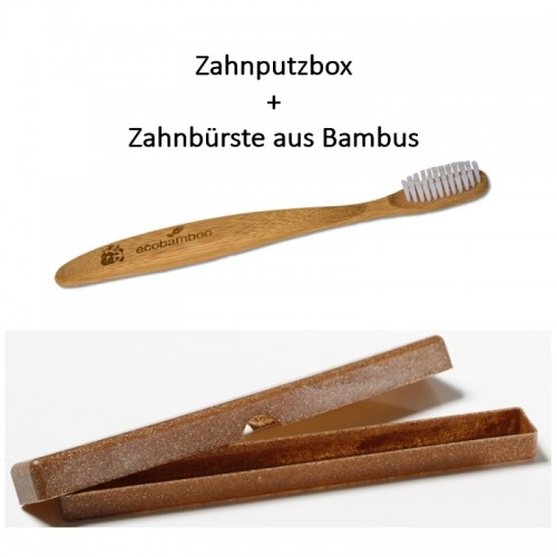 Bamboo Toothbrush & Case made of Liquid Wood | Saling