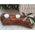 Olive Wood Tea Light Holder BRANCH | Olivenholz erleben