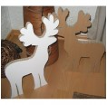 Recyclable cardboard stag for individual design