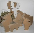 Elks – Cardboard Animals for individually painting