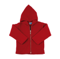 Organic Fleece Zip Hoodie, dark red | Reiff