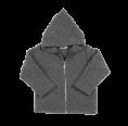 Organic Fleece Zip Hoodie, grey | Reiff
