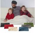 Organic Fleece Swaddling Baby Blanket of merino wool, Reiff