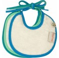 Dribble Organic Bibs in pack of 3 - turquoise | ImseVimse