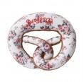 Rattling pretzel foral – Eco grabbing toy | nyani