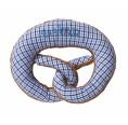 Rattling pretzel blue-white eco cotton grabbing toy | nyani