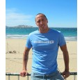 Men T-Shirt DALLOL 100% recycled – Azur Blue