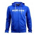 Men Zipped Hoodie BEARDMORE 100% Recycled Blue